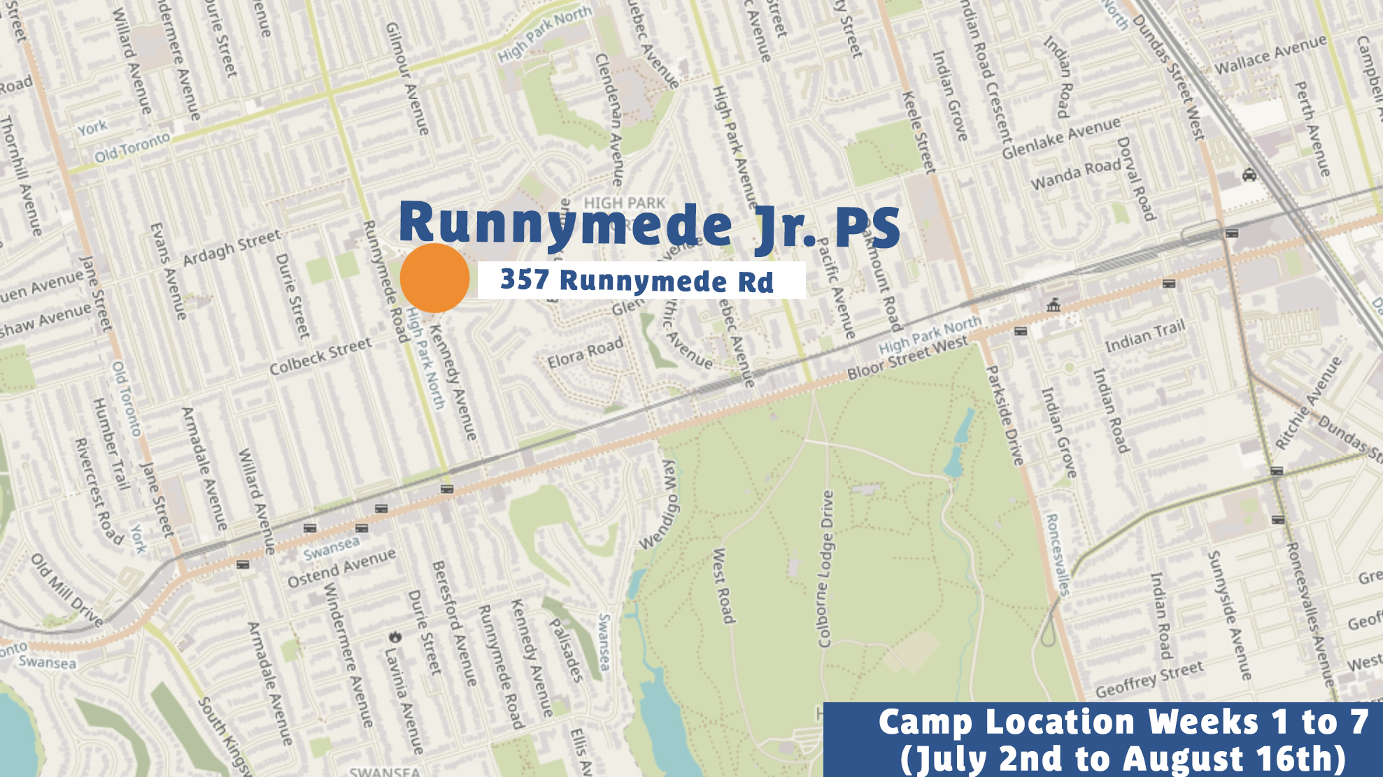 Summer 2019 Camp Location High Park