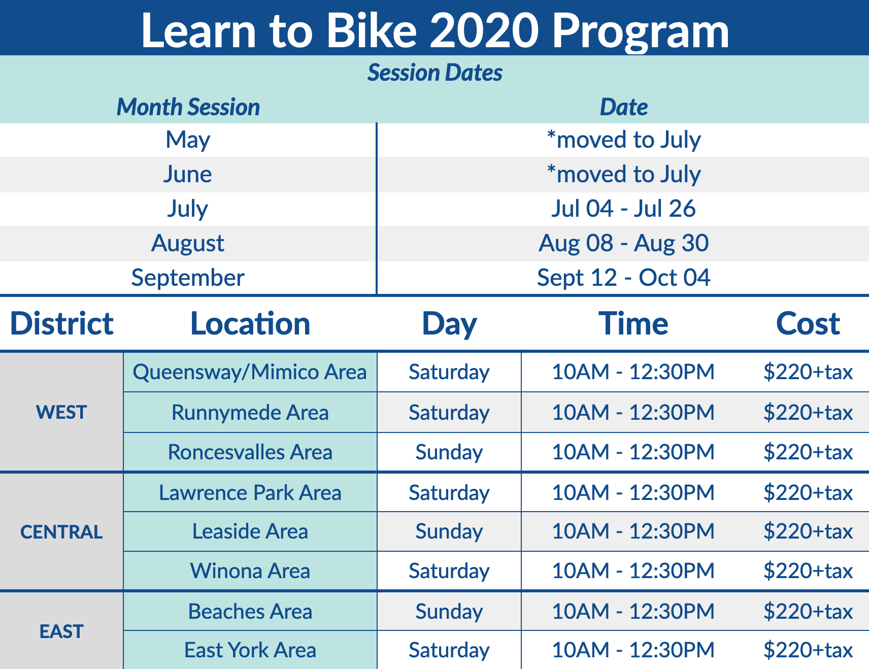 Learn to Bike programs in Toronto