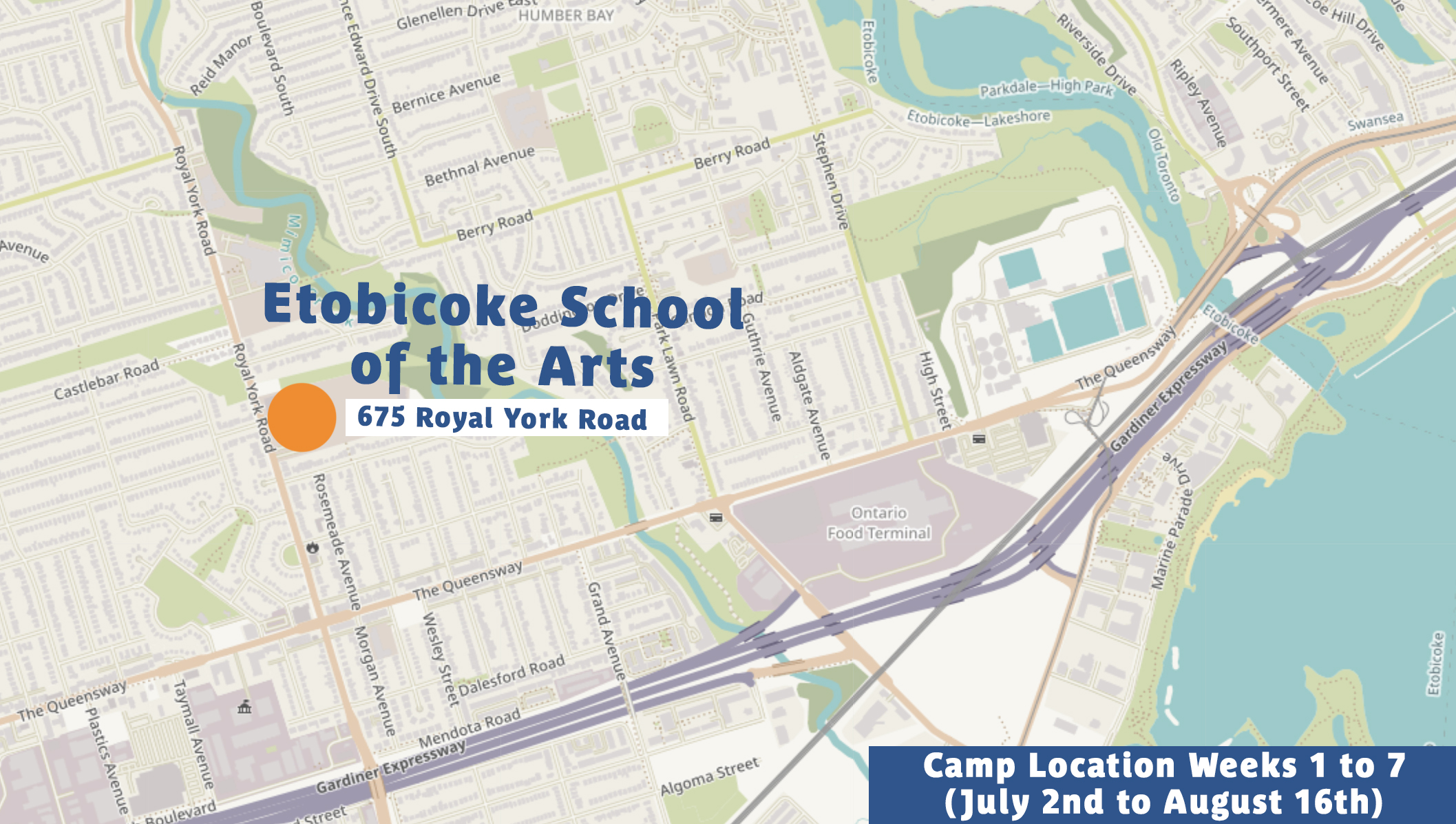 Etobicoke Summer Camp Location