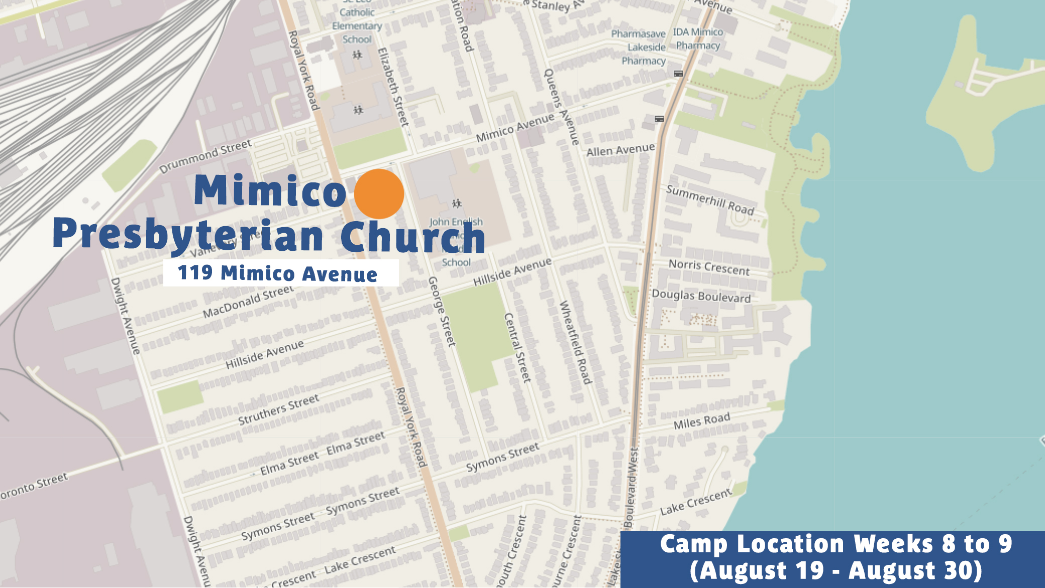 Summer 2019 Camp Location Mimico